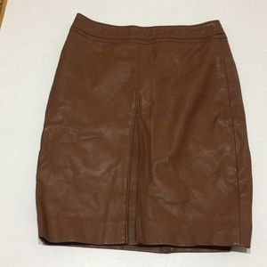 Limited brown faux leather skirt
